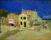 Lamp Post Framed Prints - The Yellow House Framed Print by Vincent Van Gogh