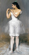 Love Letter Painting Prints - The young Ballerina Print by Stefan Kuhn