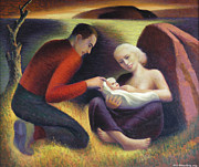 Husband Originals - The Young Family  by Glen Heberling