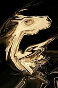 Sepia Digital Art Originals - The Young Pegasus by Rabi Khan