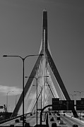 Massachusetts Bridges Posters - The Zakim Memorial Bridge Poster by Joann Vitali