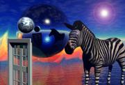Psychology Prints - The Zebra in The Window of The World Print by Jon Gemma