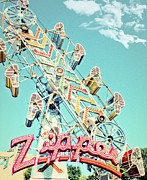 Zipper Framed Prints - The Zipper Carnival Ride Framed Print by Eye Shutter To Think