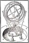 Armillary Prints - The Zodiacal Armillary Instrument Print by Dr Jeremy Burgess