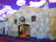 Adobe Framed Prints - Theater Night Mesilla Framed Print by Kurt Van Wagner