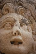 Theatrical Photos - Theatrical Mask, Myra Demre, Turkey by Carson Ganci