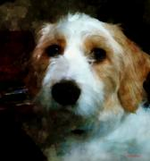 Puppy Digital Art Originals - Their Dog by Margaret Wingstedt