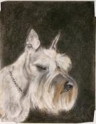 Yorkshire Drawings - Their Sweet Puppy by Annette Kinship