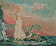 William Blake Paintings - Thel in the Vale of Har by William Blake