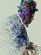 Watercolor  Paintings - Thelonious Monk Watercolor 1 by Irina  March