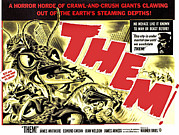 1954 Movies Prints - Them, 1954 Print by Everett