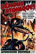 1950s Movies Prints - Them Aka Demons Atomiques, Belgian Print by Everett