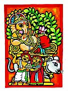 Immersion Framed Prints - Theme Of Lord Ganesh  Framed Print by Rajen
