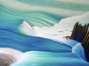 Rushing Water Paintings - Then and Now by Brian  Commerford