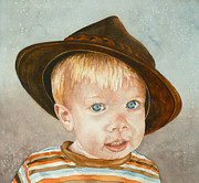 Little Boy Framed Prints - Theo Framed Print by Anne Gifford