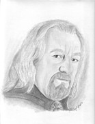 Lord Drawings - Theoden by Amy Jones