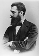 Journalist Photo Posters - Theodor Herzl (1860-1904) Poster by Granger