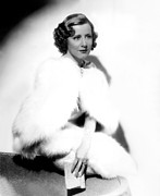 White Fur Prints - Theodora Goes Wild, Irene Dunne, 1936 Print by Everett