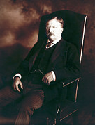 Presidential Photo Framed Prints - Theodore Roosevelt - President of the United States  Framed Print by International  Images