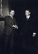 President Johnson Prints - Theodore Roosevelt and Hiram Johnson after nomination Print by International  Images