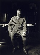 Us Presidents Prints - Theodore Roosevelt In His Library Print by Everett