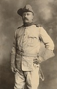 Uniforms Metal Prints - Theodore Roosevelt In The Uniform Of An Metal Print by Everett