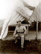 Cavalry Uniform Posters - Theodore Roosevelt, Seated At Entrance Poster by Everett