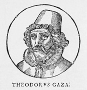 Gaza Framed Prints - Theodorus Gaza, Greek Humanist Framed Print by Middle Temple Library
