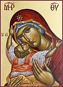 Byzantine Icon Paintings - Theotokos Kardiotissa I by Julia Bridget Hayes