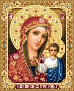 Cross Tapestries - Textiles Framed Prints - Theotokos of Kazan Framed Print by Stoyanka Ivanova