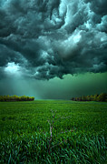 Storm  Light Posters - There Came a WInd Poster by Phil Koch