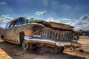 Wrecked Cars Prints - There There Print by Wayne Stadler