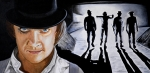 Kubrick Paintings - There was me that is Alex and my Three Droogs by Al  Molina