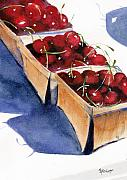 Cherries Paintings - Theres a Pie Awaiting by Marsha Elliott