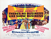 Lobbycard Framed Prints - Theres No Business Like Show Business Framed Print by Everett