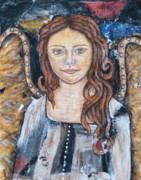 Devotional Paintings - Theresa by Rain Ririn