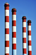 Repetition Photos - Thermal powerplant chimneys by Sami Sarkis
