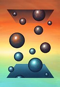 Molecule Art - Thermodynamics, Conceptual Artwork by Richard Bizley