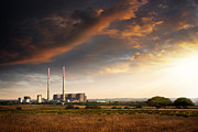 Gas Clouds Posters - Thermoelectrical Plant Poster by Carlos Caetano
