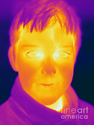 Thermogram Prints - Thermogram Of A Boy Print by Ted Kinsman