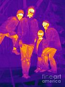 Human Being Posters - Thermogram Of A Group Of People Poster by Ted Kinsman