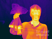 Thermogram Prints - Thermogram Of A Hidden Gun Print by Ted Kinsman