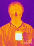 Electromagnetic Spectrum Photos - Thermogram Of A Man by Ted Kinsman