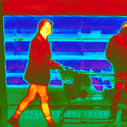 Thermogram Prints - Thermogram Of A Woman In A Supermarket Print by Dr. Arthur Tucker