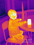 Human Being Posters - Thermogram Of A Young Boy Poster by Ted Kinsman