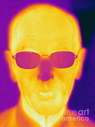 Electromagnetic Spectrum Photos - Thermogram Of An Elderly Man by Ted Kinsman