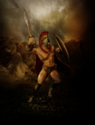 Sword Metal Prints - Thermopalyae Metal Print by Karen Koski