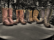 Motorcycle Cowboy Art - These Boots by William Fields