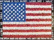 American Flag Mixed Media Originals - These Colors Dont Run by Eric McGreevy