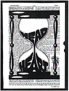 Dictionary Prints - These Things Take Time Head Heart Hourglass Print by Kato Smock